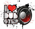 I love dub step music dance Royalty Free Stock Images