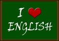 I love english illustration of on a green board Royalty Free Stock Photos