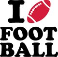 I love Football with ball Royalty Free Stock Photo