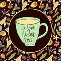I love herbal tea Royalty Free Stock Photo