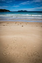 I Love Ilha Grande, Lopes Mendes, Beach. Incredible paradise. Br Royalty Free Stock Photo