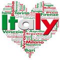 I Love Italy Stock Photo