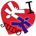 I love judo. martial arts emblem Stock Image