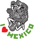 I Love Mexico Template Design Royalty Free Stock Photos
