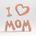 I love mom hanging inscription mon Royalty Free Stock Photo