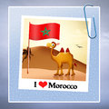 I love morocco illustration of souvenirs from Royalty Free Stock Image