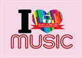 I love music and music is my life word font type with signs idea an images of design Stock Photos