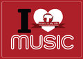 I love music and music is my life word font type with signs idea an images of design Royalty Free Stock Images