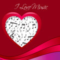 I love music red presentation Stock Photo