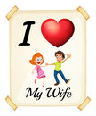 I love my wife banner Stock Photography