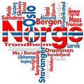 I Love Norge (Norway) Stock Image