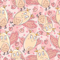 I Love Owl Seamless Pattern_eps Royalty Free Stock Images