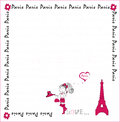I love paris card vector Stock Photography