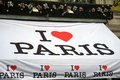 I love paris tent with a red hearth Royalty Free Stock Photo