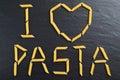 I love pasta sign Royalty Free Stock Photo