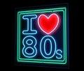 I love the s neon Stock Photos