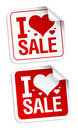 I love sale stickers. Royalty Free Stock Photography