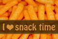 I love snack time message Royalty Free Stock Photo