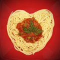 I love spaghetti! Stock Photos