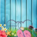 I love summer background. Vector Royalty Free Stock Photo