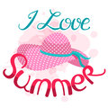 I love summer vector illustration. Lettering composition and su