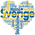 I Love Sverige (Sweden) Royalty Free Stock Image