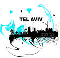 I love Tel Aviv poster Royalty Free Stock Photos