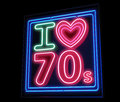 I love th s decade neon sign isolated Stock Photography