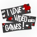 I love video games banners vector illustration Royalty Free Stock Image