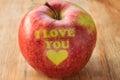 I love you apple Royalty Free Stock Photo