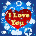I love you background Royalty Free Stock Images