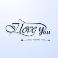 I love you calligraphic headline text valentine s day and happy lettering Stock Photo