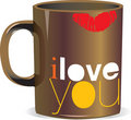I love you cup Stock Images