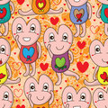 I love you cute seamless pattern Royalty Free Stock Photo