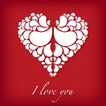 I love you design with abstract heart Stock Photo