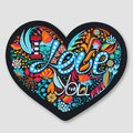 I Love You. Floral heart. Hand drawn creative flowers. Happy Valentine`s Day. Romance. Holiday in February