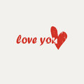 I love you greeting card Royalty Free Stock Photo