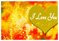 I love you greeting card romantic with hearts and text Royalty Free Stock Photography
