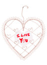 I love you message on a heart note board Royalty Free Stock Photo
