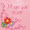 I love you mom Royalty Free Stock Photography