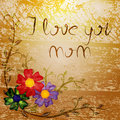 I love you mom Stock Images
