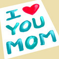 I love you mom Royalty Free Stock Photo