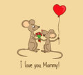 I love you, Mommy. Mother's day greeting card Royalty Free Stock Photo