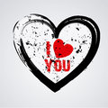 I love you over gray background illustration Royalty Free Stock Photo