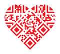 I Love You QR Code Red Heart Shape