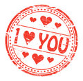 I Love You Rubber Stamp Stock Photo