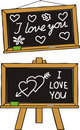I love you - school love Royalty Free Stock Photos
