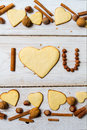I love you sentence arranged with cookies and nuts Royalty Free Stock Photo