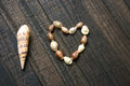 I love you, shell, heart shape, valentine day Royalty Free Stock Photo