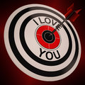 I Love You Shows Valentines Affection To Lover Stock Photo